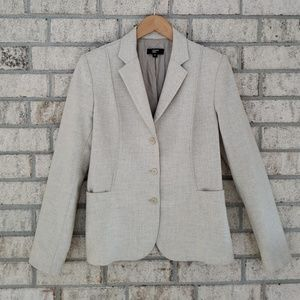 Philippe Adec Virgin Wool Blend Blazer - Size 8